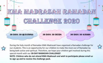 KMA Madrasah Ramadan Challenge 2020 (Winners Update)